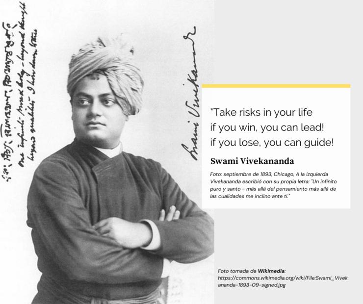 Swami Vivekananda, 1893   Wikimedia