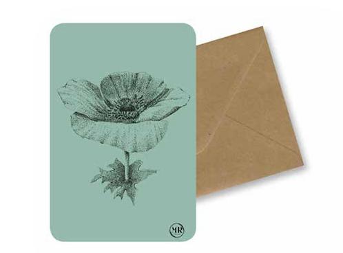 Carte postale Anémone + Enveloppe