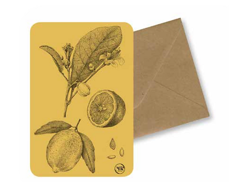 Carte postale Citron + Enveloppe