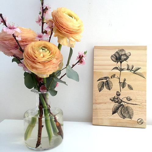 Tableau de bois Aubépine