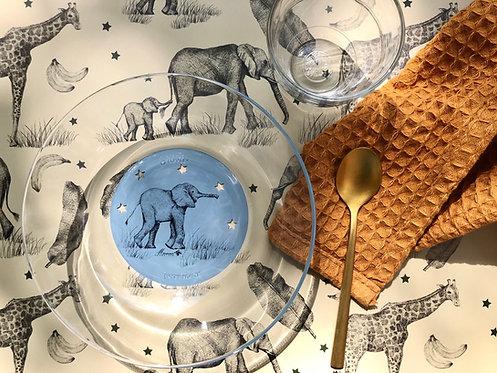 Set de table Éléphants / Girafe