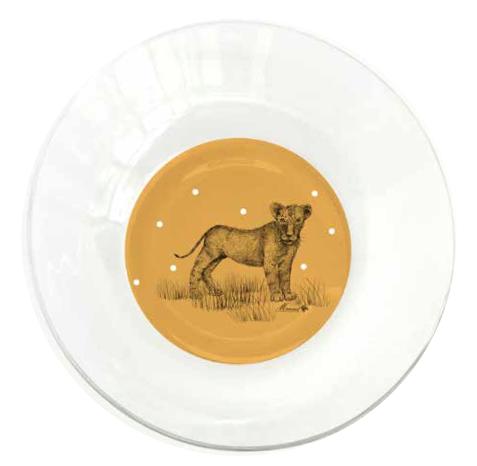 Assiette creuse monsieur Lion