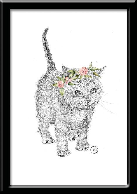 Affiche Princesse Chat