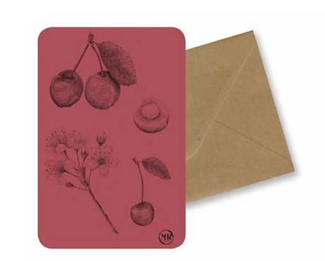 Carte postale Cerise + Enveloppe
