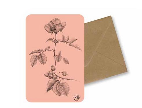 Carte postale Aubépine + Enveloppe