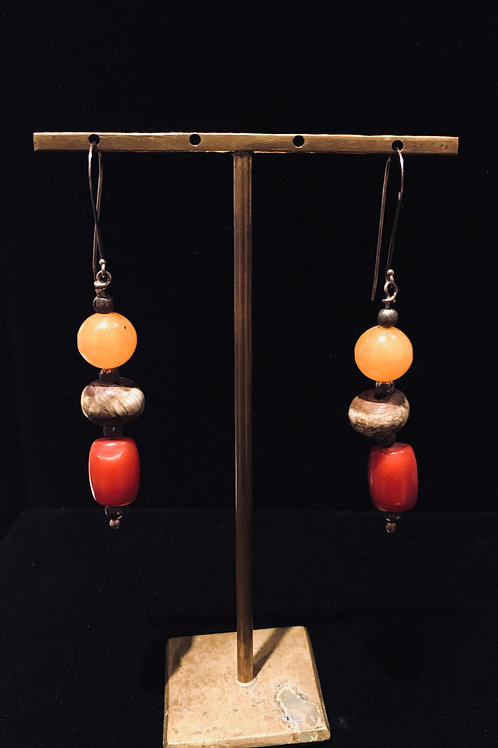 Shell and Coral Earrings.