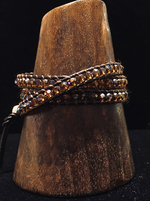 Cut Glass Wrap Bracelet
