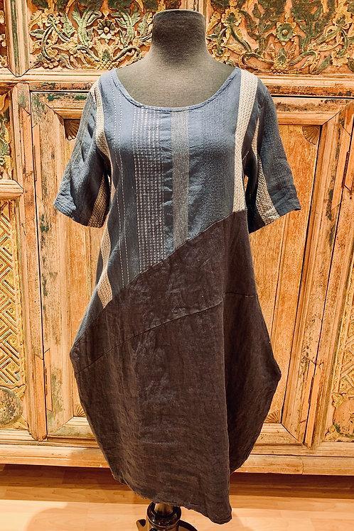 Angela Mara Blue Dress