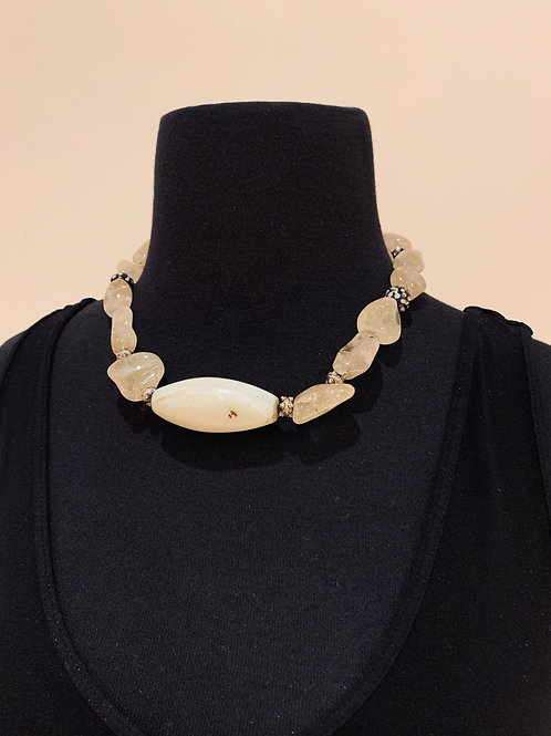 Agate and Quartz Necklace