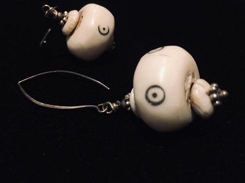 Bone and Shell Earrings