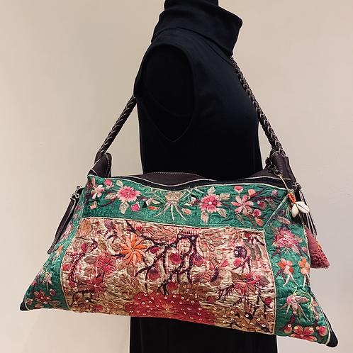 Antique Embroidered Shoulder Bag