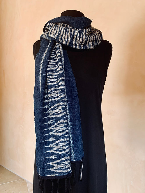 Blue and Cream Scarf