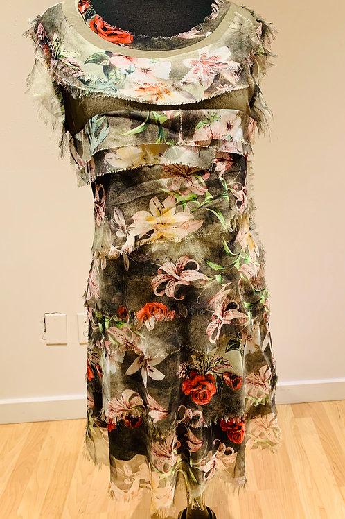 Floral Layered Vintage Concept Dress