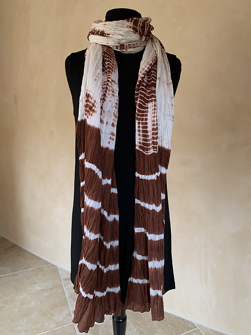 Auburn and White Scarf