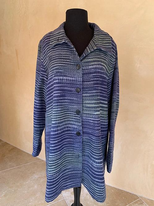 Blue Handwoven Jacket