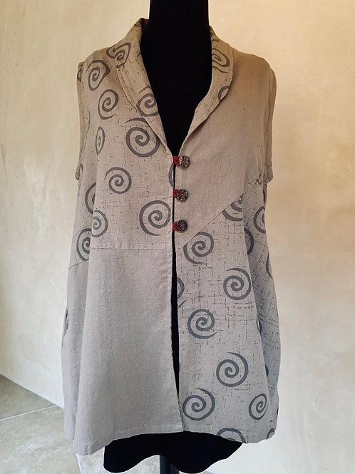 Cotton Print Vest