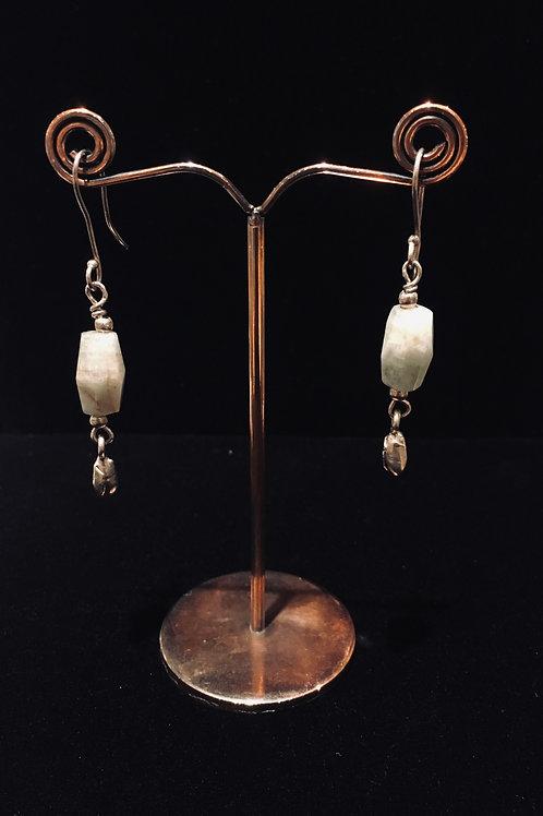 African Agate Earrings
