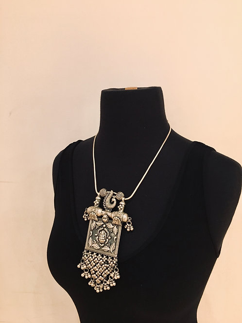 Buddha and Peacock Necklace