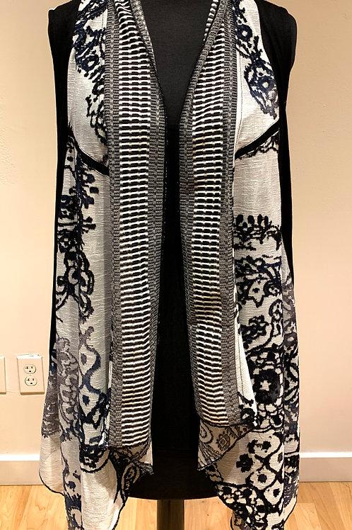 Blue Patterned Vintage Concept Vest