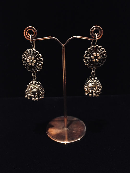 Flower and Bell Earrings.