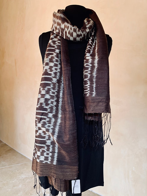 Brown and Silver Scarf