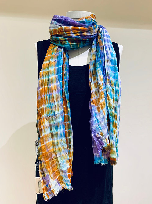Multi-colored Tie-Dyed Scarf