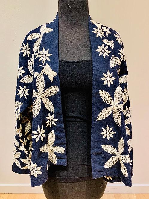 Blue Sashiko Embroidered Jacket