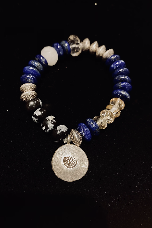 Lapis and Sterling Bracelet