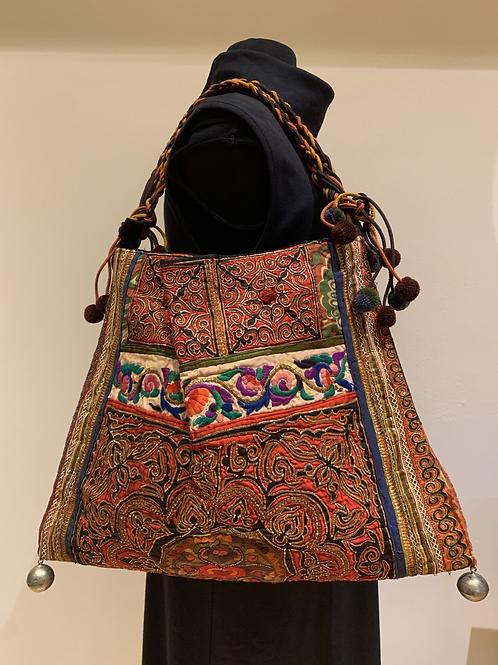 Antique Chinese Textile Shoulder Bag
