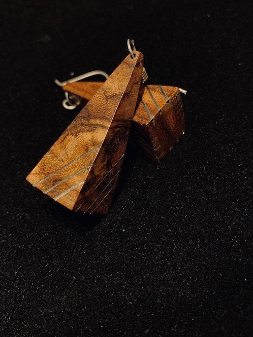 Wood Inlay Earrings