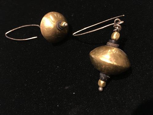 African Brass Earrings