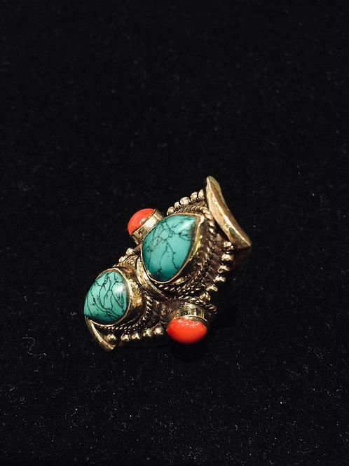 Turquoise Teardrop Ring
