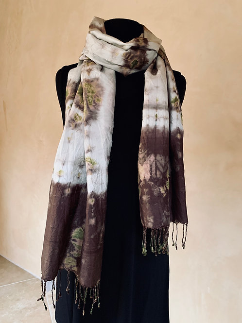 Brown and Green Scarf