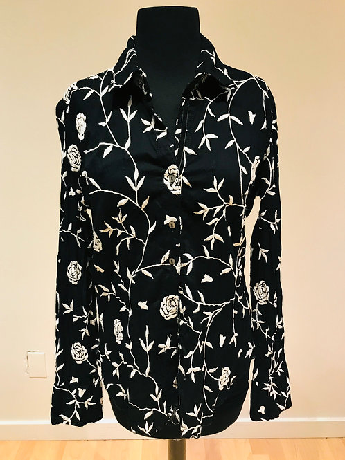 Floral Patterned Cino Blouse