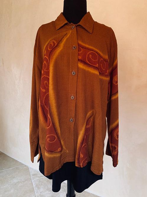 Orange Batik Neko Shirt