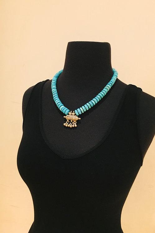 Turquoise Prayer Necklace