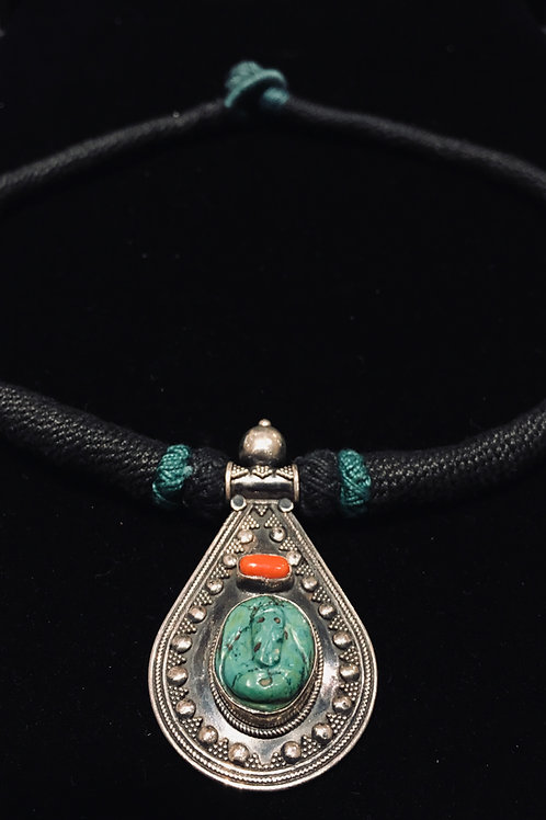 Turquoise Ganesh Pendant