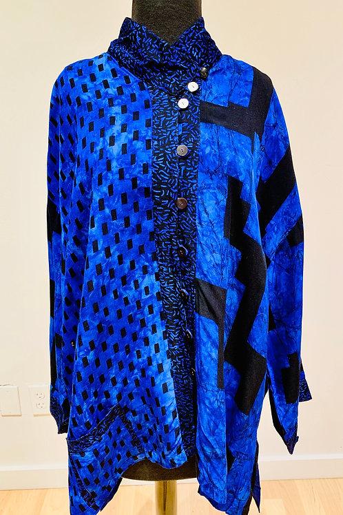 Lyng Asymmetrical Patterned Jacket