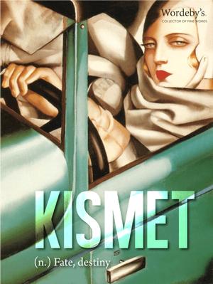 """""""Self Portrait in the Green Bugatti"""" (1929) by 20th Century Polish Art Deco painter, Tamara De Lempicka."""