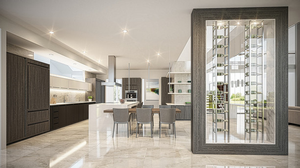 3D Rendering - Kitchen Architectural | Rendimension