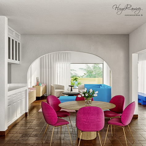 Dining Room Professional Rendering