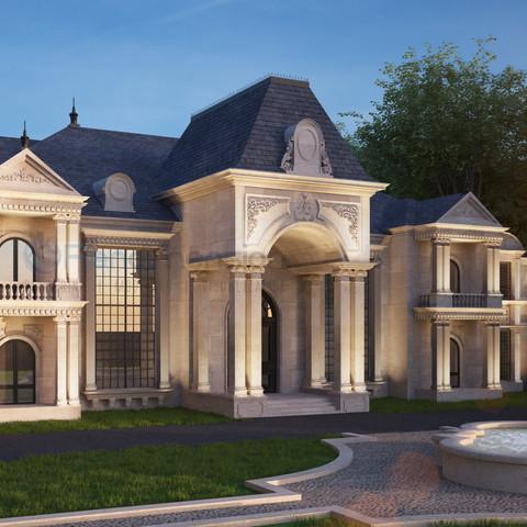 3D Mansion Exterior