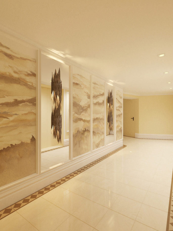 HALLWAY UPDATED MARBLE FLOOR