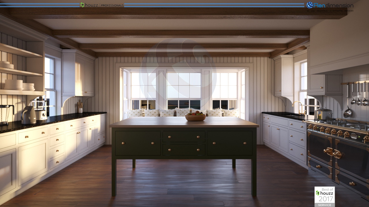 3D RENDERING INTERIOR KITCHEN HUGO RAMIR