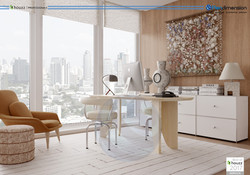 3D RENDERING INTERIOR HUGO RAMIREZ OFFIC