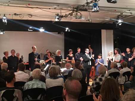 """anaphandon"" performed by ensemble SurPlus at Schloss Solitude Akademie in Stuttgart, Germany"