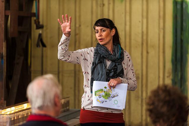 Charlotte Ernst, initiatiefnemer Hof van Cartesius. Fotograaf Aad van Vliet CC by NC ND