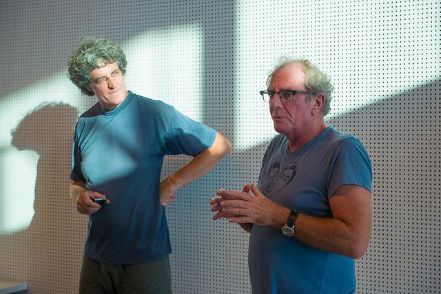 Erik Uitdenboogaard en Paul den Brabander, Werkspoorkwartaal, fotograaf Aad van Vliet