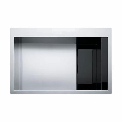 Poceta Acero y Vidrio Negro CLV 210 BK - Franke