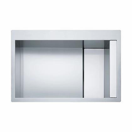 Poceta Acero y Vidrio Blanco CLV 210 WH - Franke